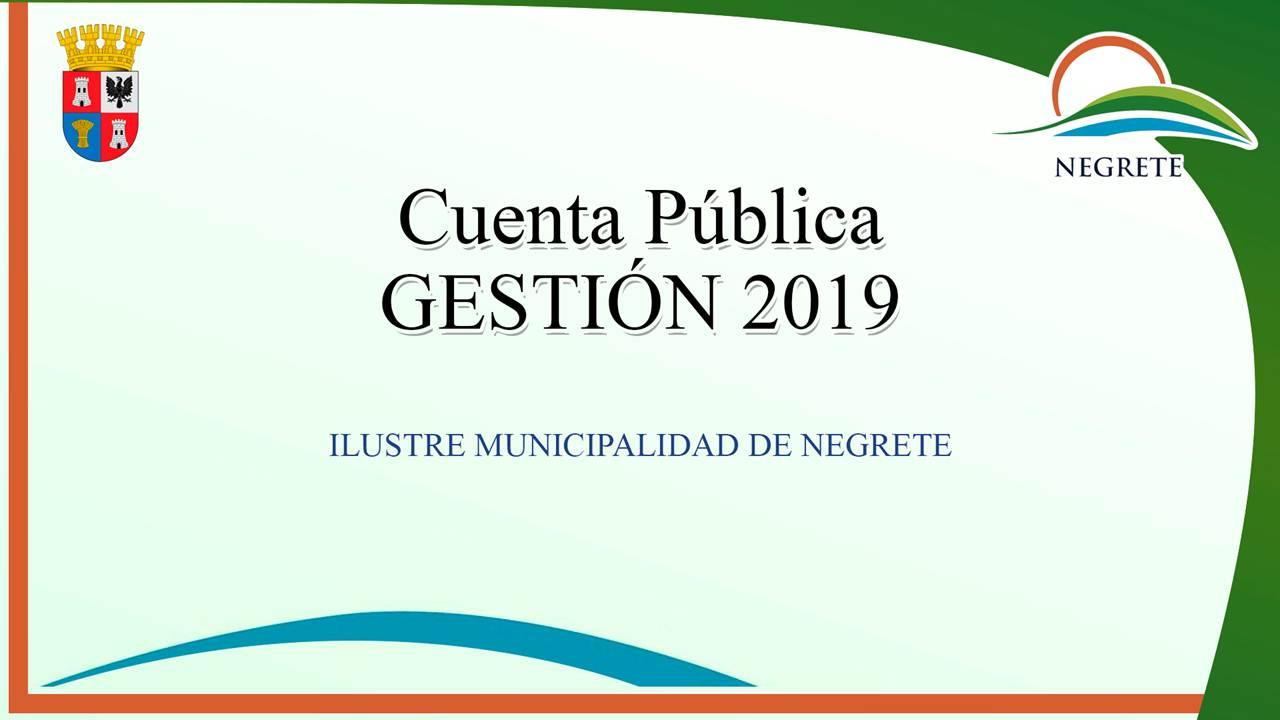 Ver Cuenta Pública Gestión 2019